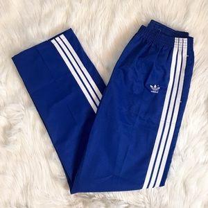 Adidas Blue White Vintage RARE Three Stripe Pants
